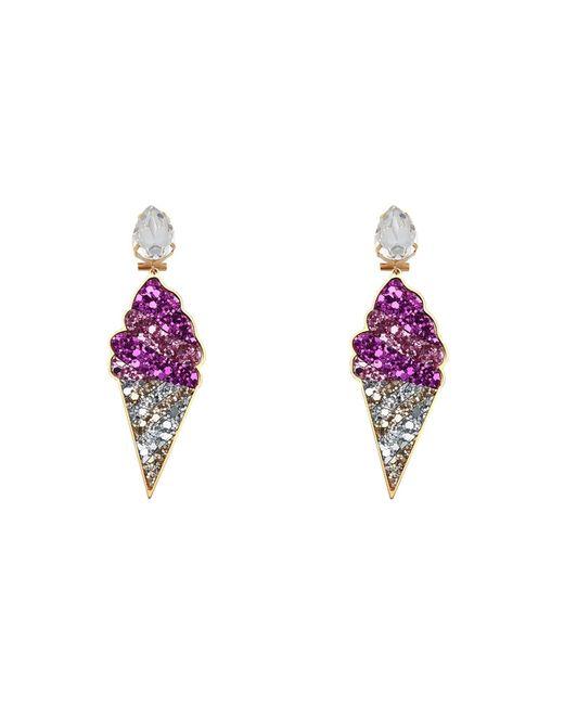 Shourouk Purple Earrings