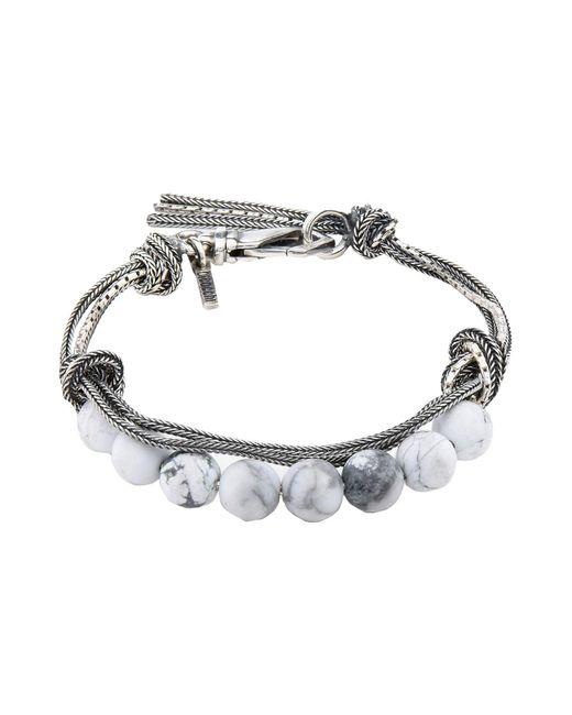 Emanuele Bicocchi - White Bracelet - Lyst