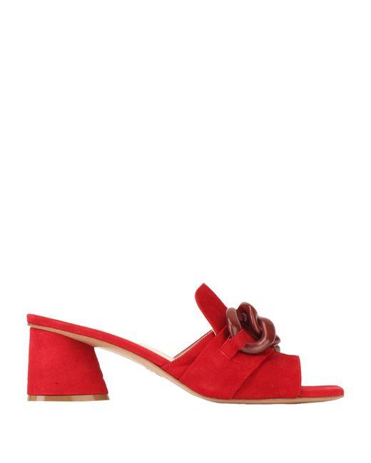 Jeannot Sandalias de mujer de color rojo