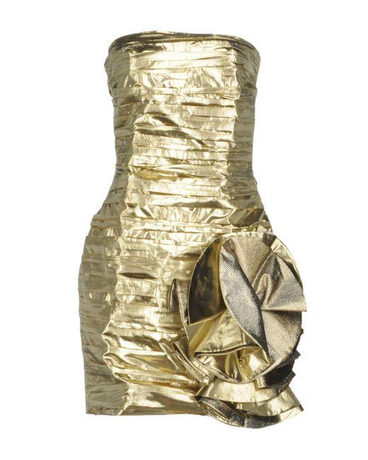 Faith Connexion   Metallic Short Dress   Lyst