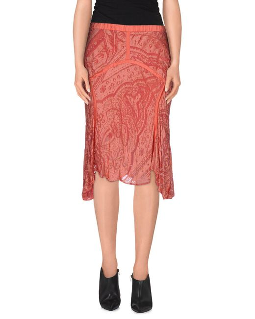 Roberto Cavalli - Purple Knee Length Skirt - Lyst