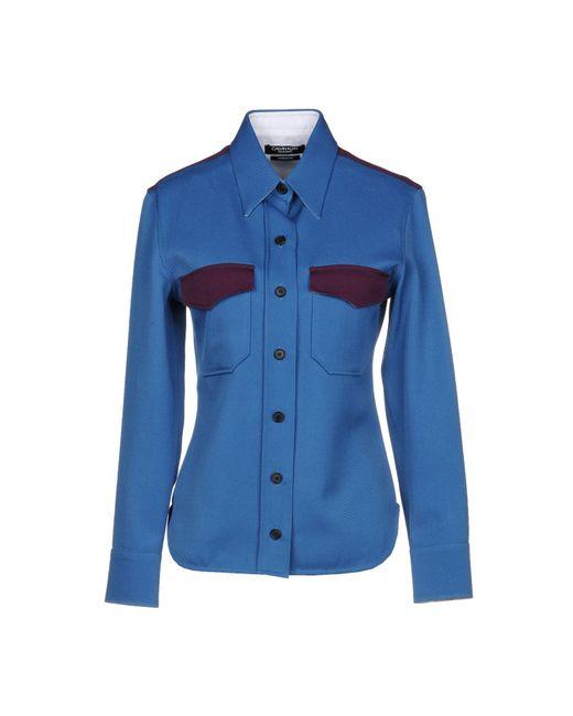CALVIN KLEIN 205W39NYC Camisa de mujer de color azul aZs07