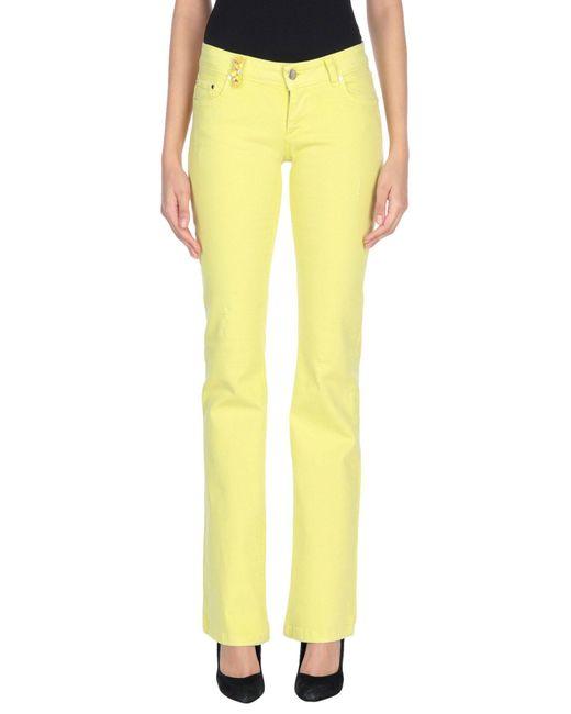 Pantalon en jean Jijil en coloris Yellow