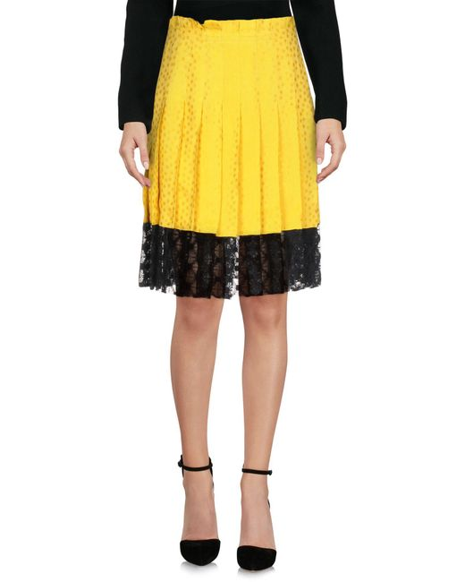 Philosophy Di Lorenzo Serafini - Yellow Knee Length Skirt - Lyst