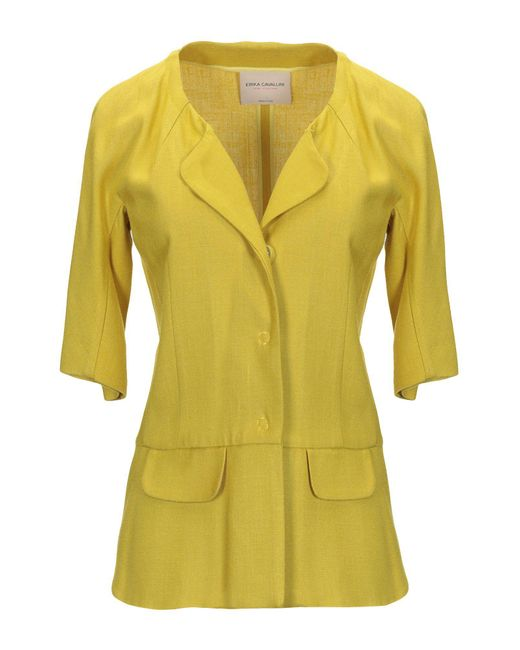 Veste Erika Cavallini Semi Couture en coloris Yellow