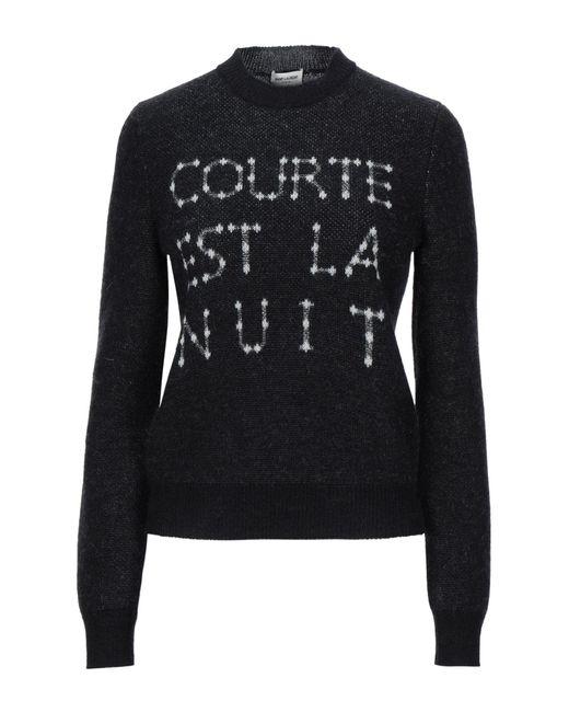 Saint Laurent Black Pullover