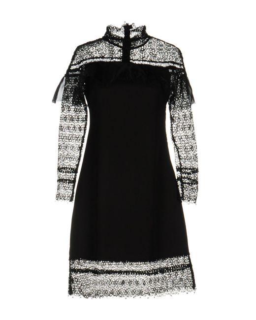 NJ COUTURE - Black Short Dress - Lyst
