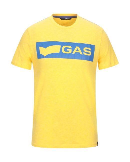 Camiseta Gas de hombre de color Yellow
