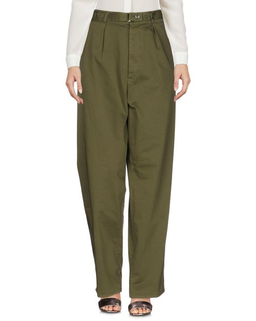 Department 5 - Green Casual Pants - Lyst