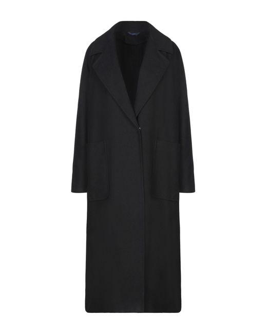 Blue Les Copains Abrigo de mujer de color negro