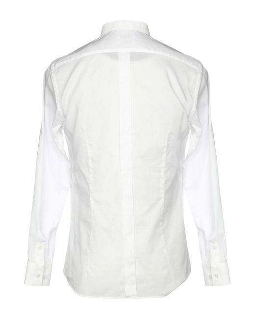 Camicia di Paolo Pecora in White da Uomo