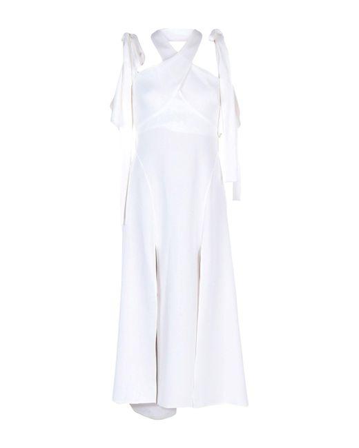 Ellery White Long Dress