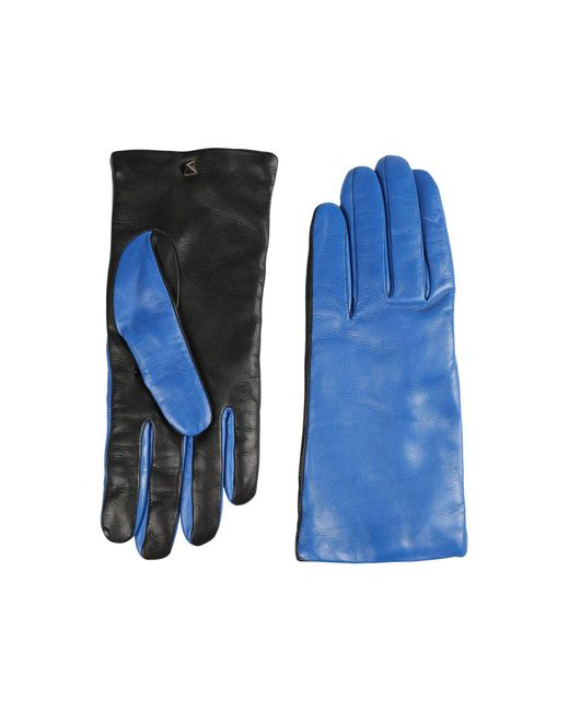 Valentino - Blue Gloves - Lyst