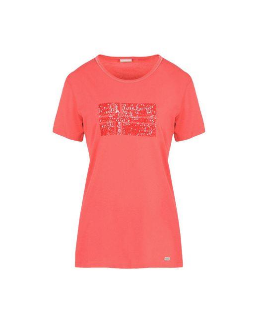 Napapijri - Red Short Sleeve T-shirt - Lyst