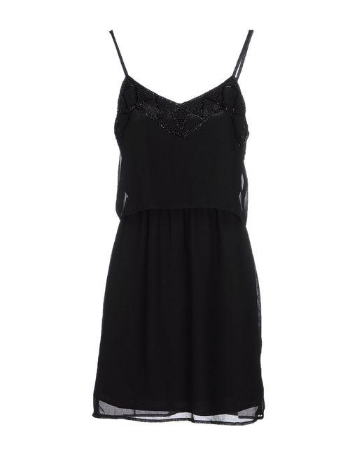 Vero Moda - Black Short Dress - Lyst