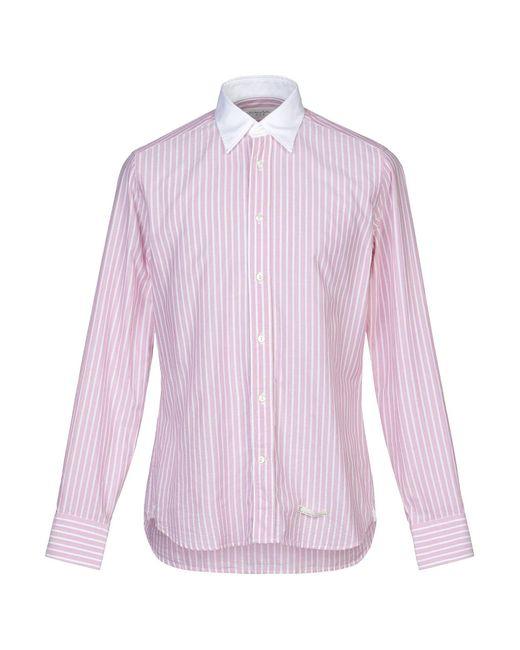 Chemise Tintoria Mattei 954 pour homme en coloris Pink