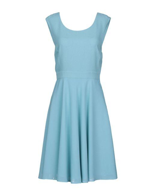 Patrizia Pepe - Blue Short Dress - Lyst