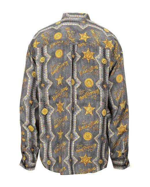 Camicia di Versace Jeans in Gray da Uomo