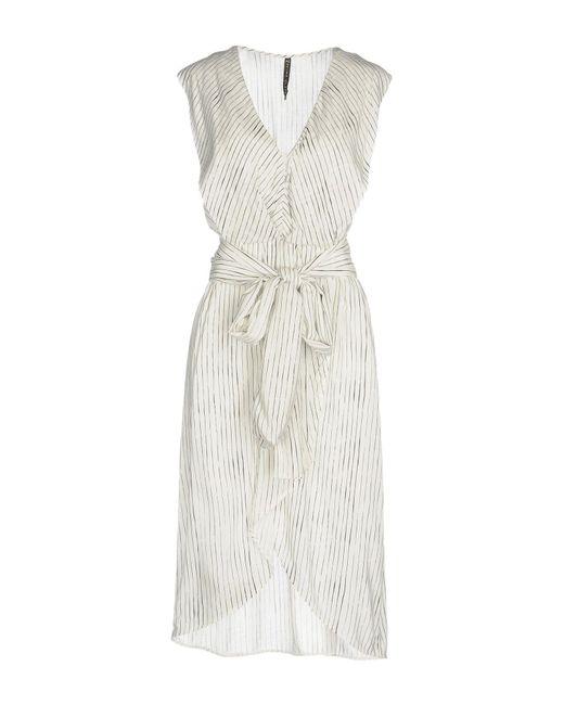 Manila Grace White Knielanges Kleid