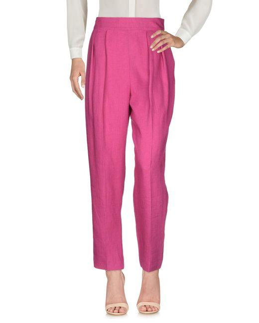 Theory Pantalon femme de coloris rose
