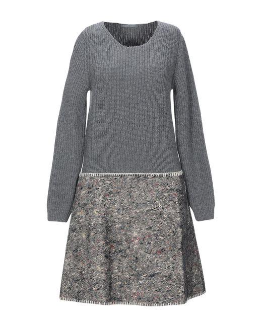 Alberta Ferretti Gray Short Dress