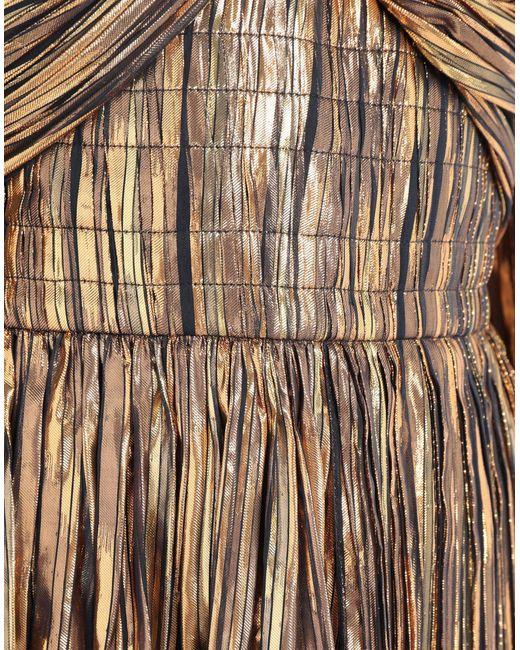 Robe métallisées à rayures Peter Pilotto en coloris Metallic