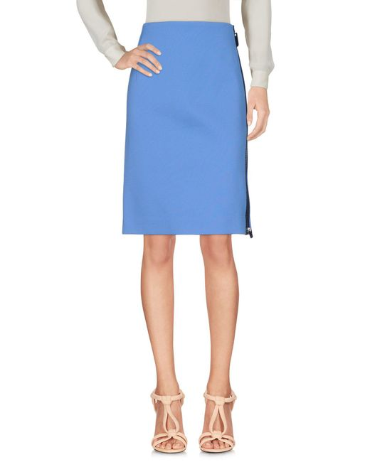 CALVIN KLEIN 205W39NYC Blue Knee Length Skirt
