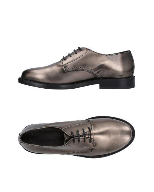 Lemarè - Gray Lace-up Shoe - Lyst