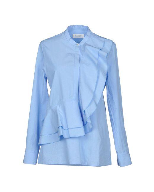 Glanshirt - Blue Shirts - Lyst