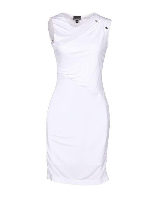 Just Cavalli White Kurzes Kleid