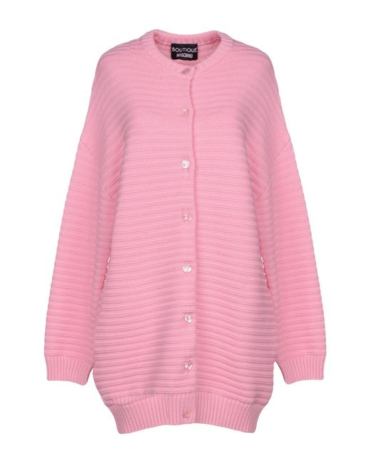 Boutique Moschino - Pink Cardigan - Lyst