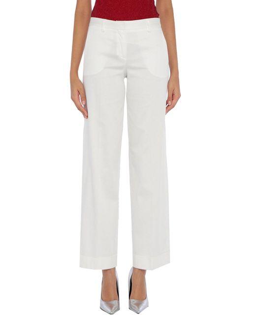 Anneclaire White Casual Trouser