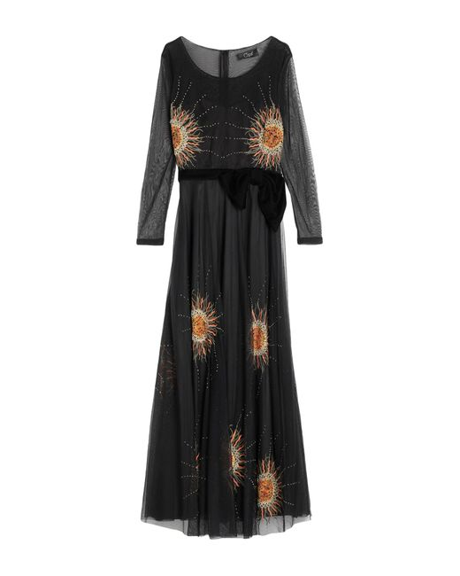 Clips Black Long Dress