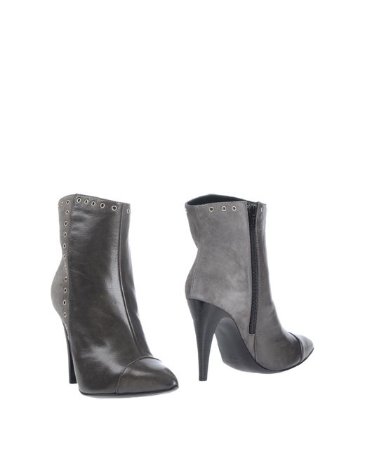 Emanuela Passeri - Gray Ankle Boots - Lyst