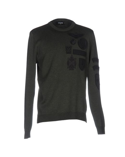 DSquared² - Green Sweater for Men - Lyst