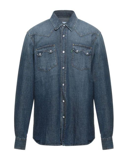 Department 5 Blue Denim Shirt for men