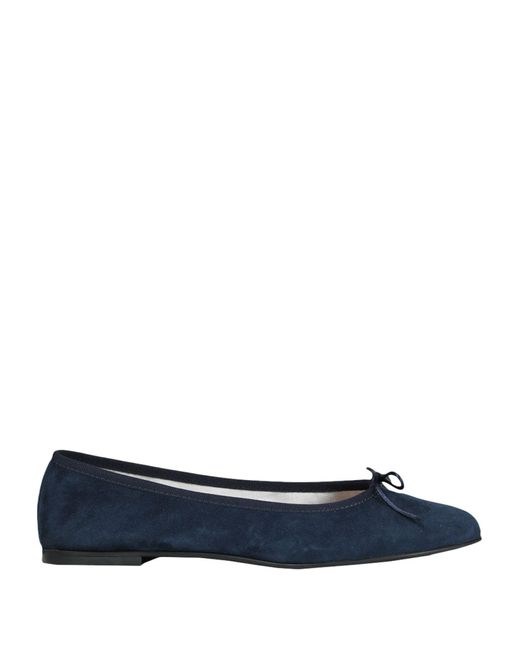 8 by YOOX Blue Ballet Flats