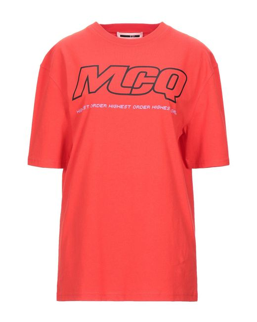 T-shirt di McQ Alexander McQueen in Red