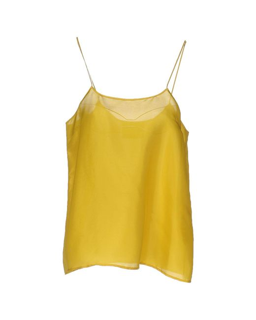 Erika Cavallini Semi Couture Yellow Top