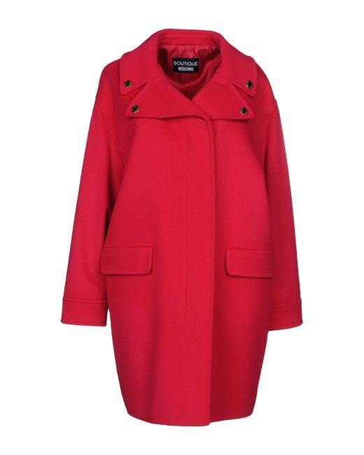 Boutique Moschino - Red Coat - Lyst