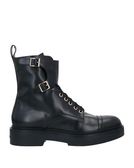 Santoni Black Ankle Boots