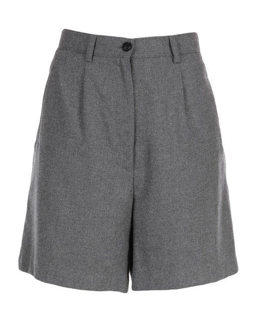 Mauro Grifoni Gray Bermuda Shorts