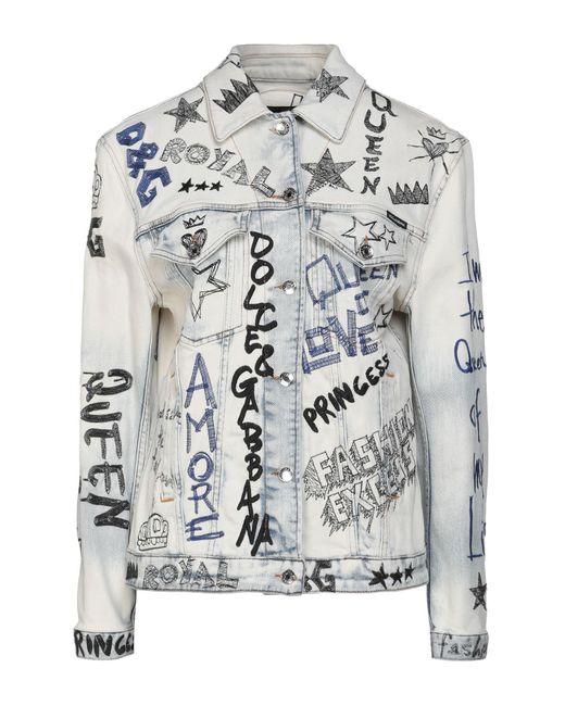 Dolce & Gabbana Blue Jeansjacke/-mantel
