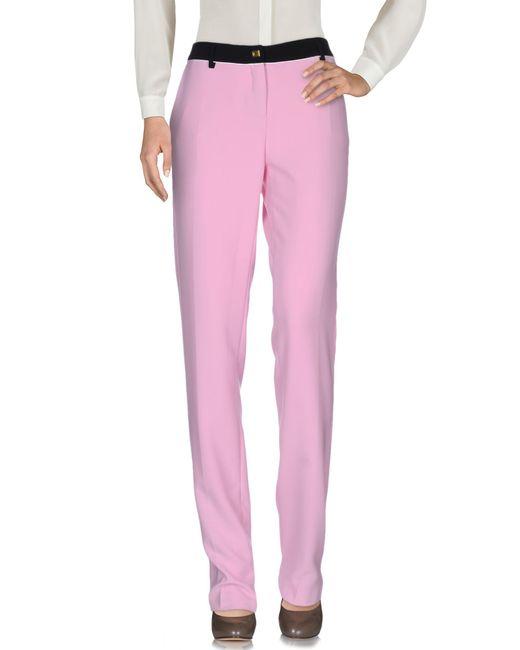 Class Roberto Cavalli Pink Casual Pants