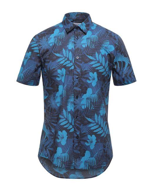 Camisa Bikkembergs de hombre de color Blue
