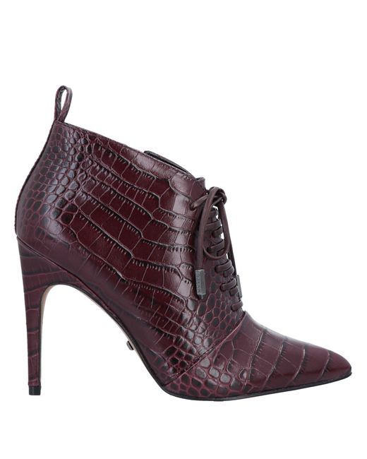 Reiss Purple Ankle Boots