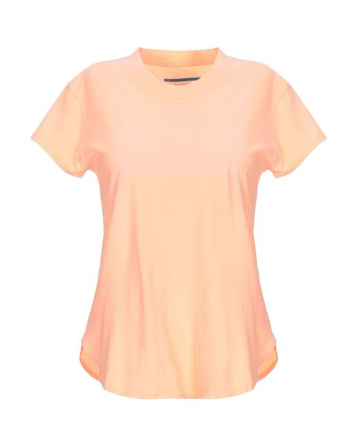 ..,merci T-shirt da donna di colore arancione
