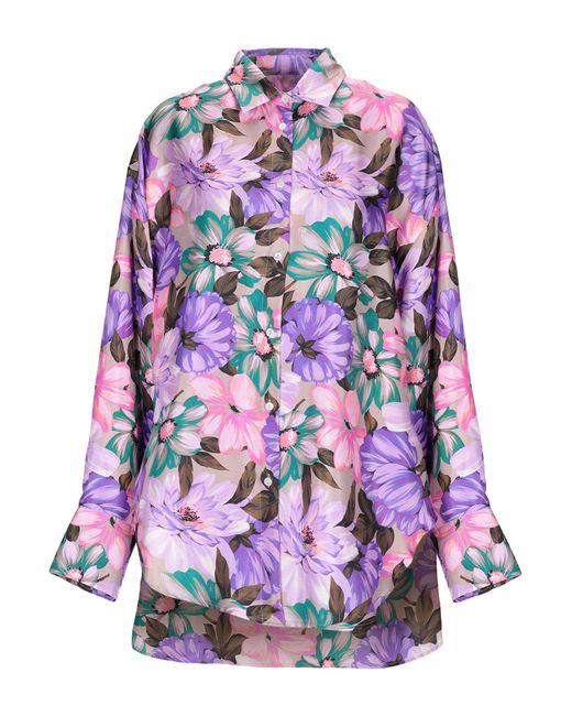 MSGM Camisa de mujer de color morado vhEYB