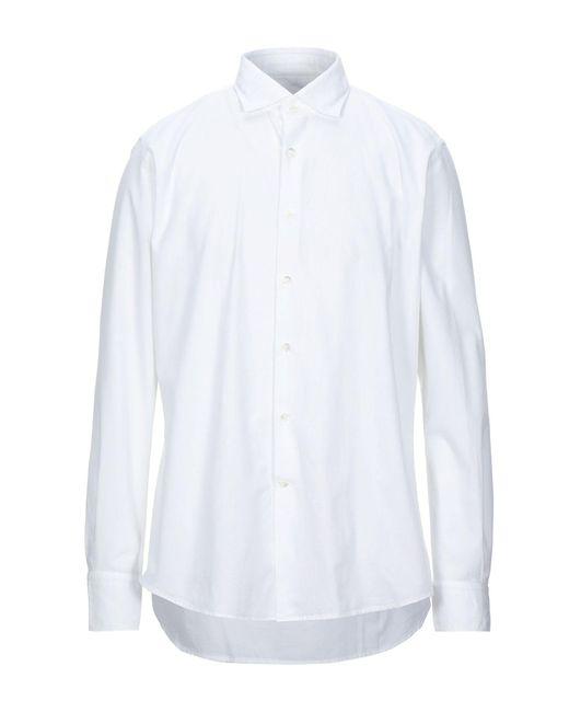 Glanshirt Camicia da uomo di colore bianco