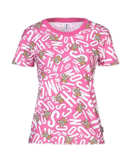 Moschino T-shirt intima da donna di colore rosa